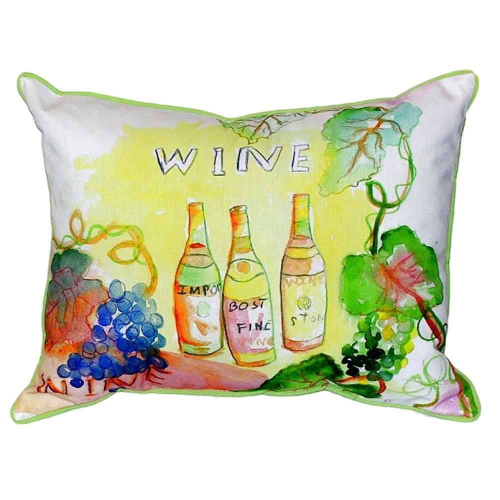 Betsy Drake SN078 Wine Bottles Pillow 11' x14'