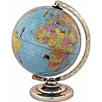 iQKids Educational Cartography Laminated 8 Inch Globe Steel Finish Arc and Base / World Globe / Home Decor / Office Decor / Gift Item (Sky Blue)