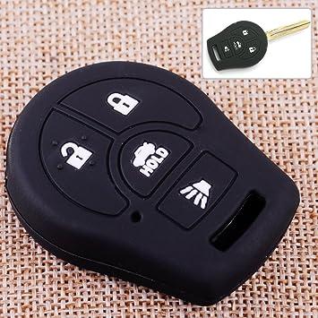 Black Silicone Key Cover Case 4 Button For Nissan Altima Sentra Versa Remote Fob