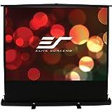 Elite Screens ezCinema Plus Series, 74-inch Diagonal 16:9, Floor Pull Up Portable Projection Screen, Model: F74XWH1