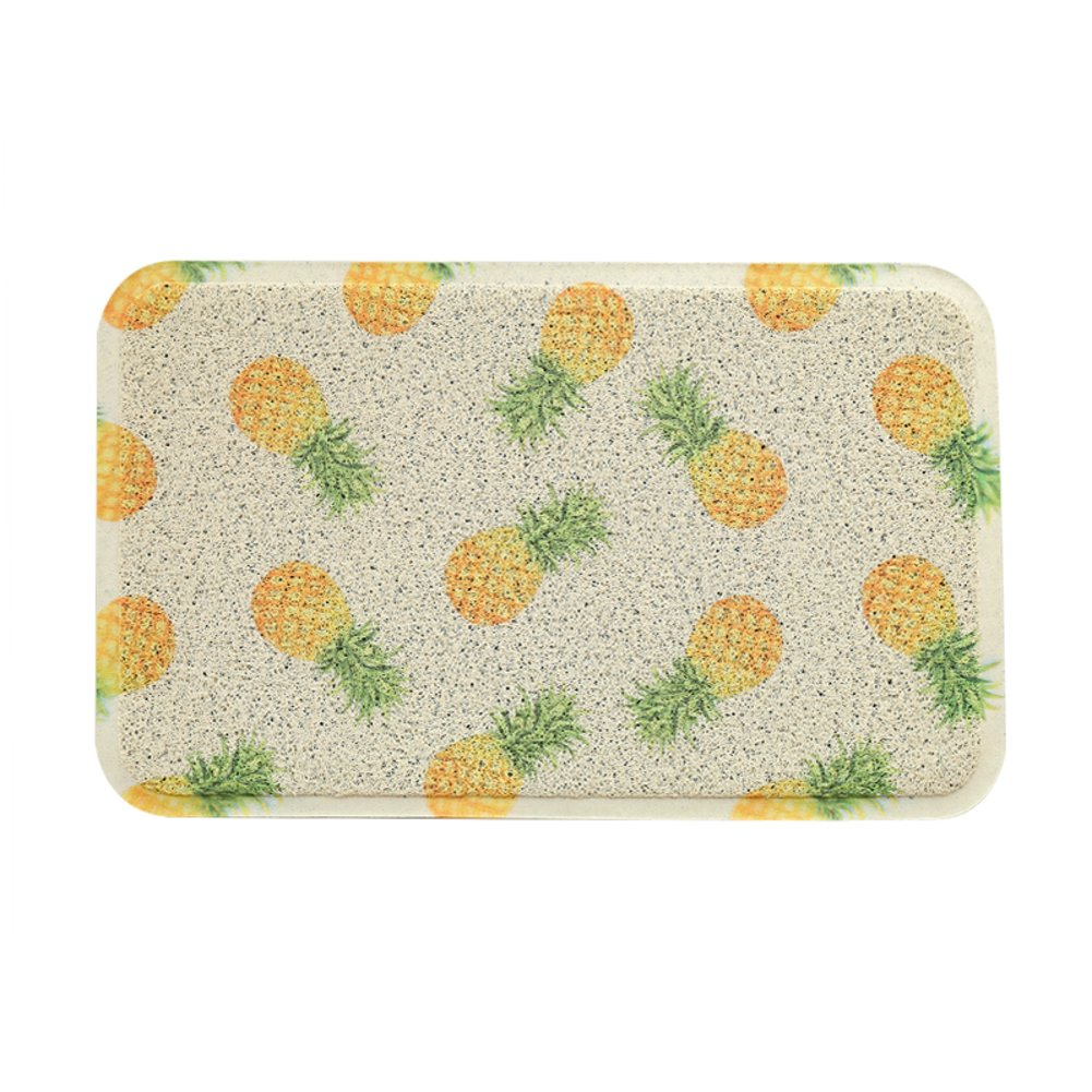 Pineapple 60x90cm(24x35inch) Door mat,Front Door Rug Entrance Door mats Anti-Slipping mats Floor mat Easy Clean Home Decorative-Lemon Grass 80x120cm(31x47inch)