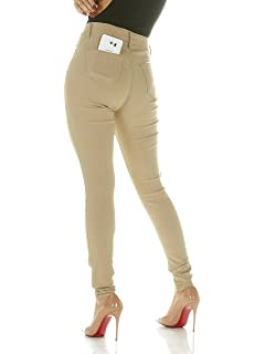 8cee8577a91 Cigarette Ultra Skinny Jeans for Women Slim Fit Extra Stretch Junior Jeans  Black, Khaki or