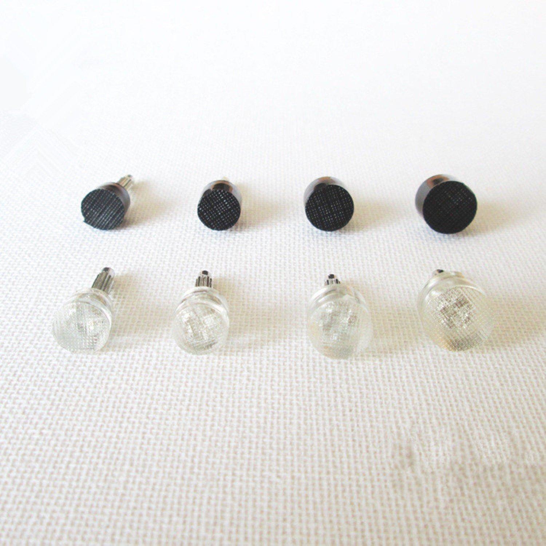 Embouts /à Talon,Talons de R/éparation Anti-d/érapant Plaques de Talon Plastique 20 Paire en Forme de U//Round pour Chaussures de Femmes Talons Hauts Conseils Accessoires Noir Transparent