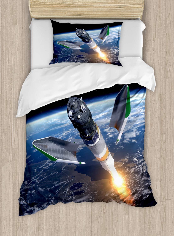 ABAKUHAUS Espacio Exterior Funda Nórdica, Nave Espacial ...