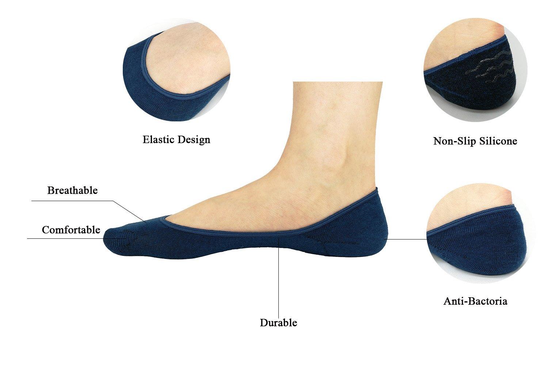 Women No Show Socks Cotton Liner Socks Non-Slip No Show Socks Low Cut Boat Socks 5-Pairs by Ayiran (Image #2)