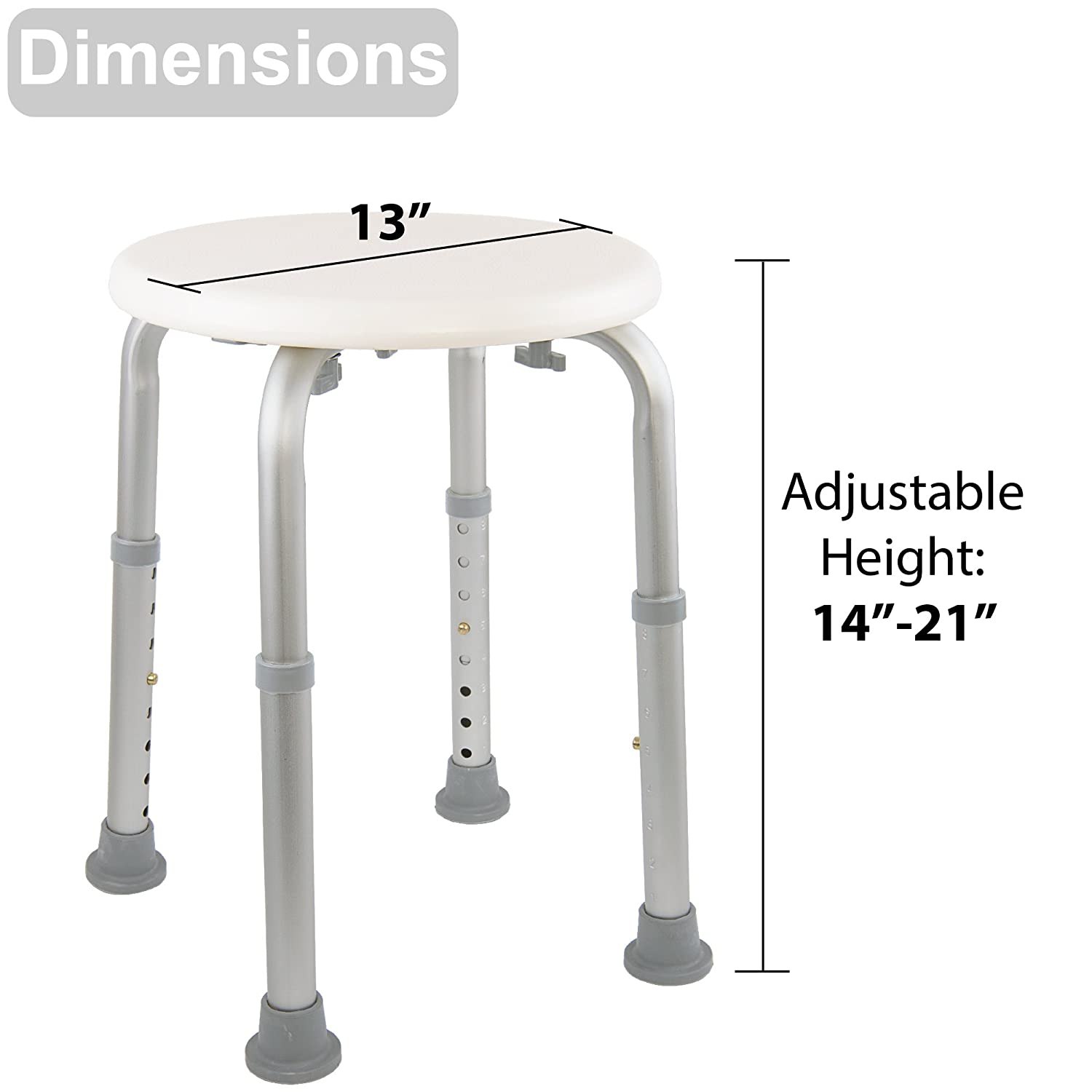 Useful Household Bathroom Shower Stool 360 Degrees Rotation Old People Bathing Chair Lifted Stable Safe Pregnant Woman Shower Stool Furniture Bathroom Chairs & Stools