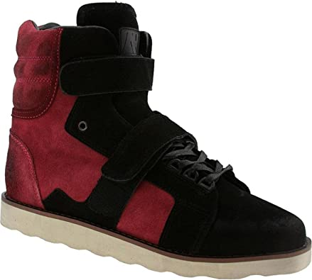 Amazon Com Android Homme Ah Mens Suede Sneakers Propulsion Boot Red Black Walking