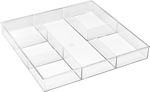Amazon Com Whitmor 6 Section Clear Drawer Organizer Office Desk Organizers