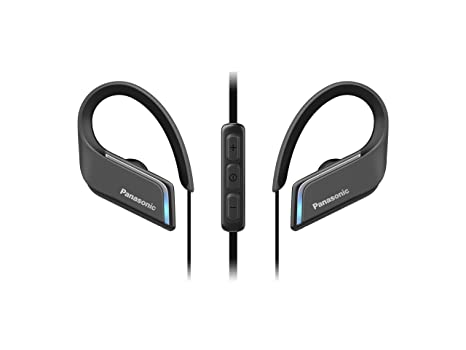 Panasonic Wings RP-BTS55E-K - Auriculares Deportivos In-Ear con Bluetooth,