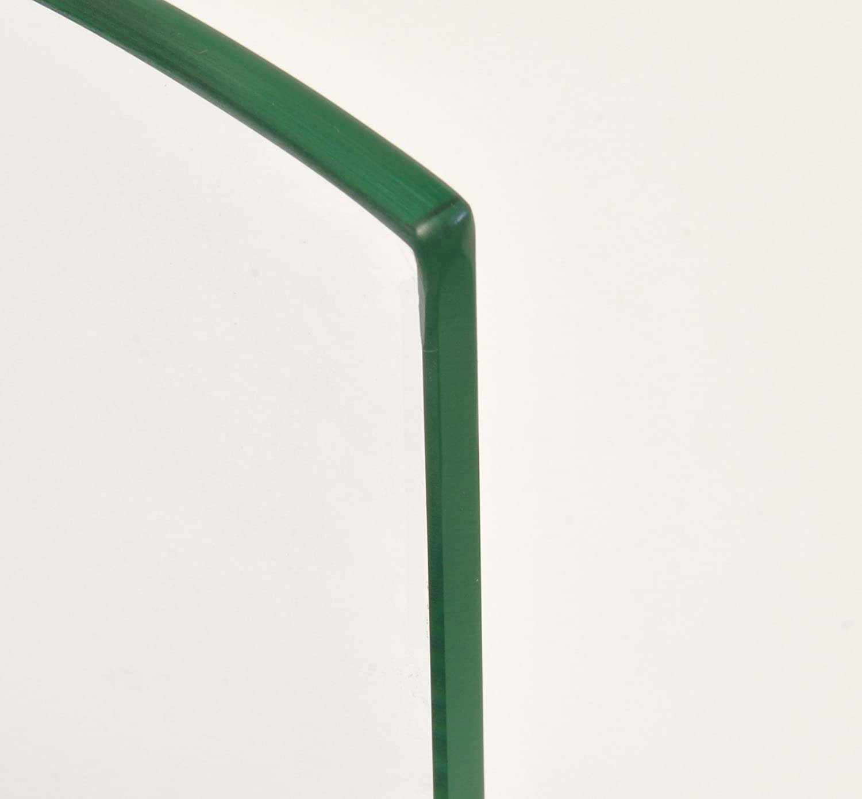cabinetsforbathrooms con 2 graffette cromate Mensola angolare in Vetro Spesso 6 mm 250 x 250 mm