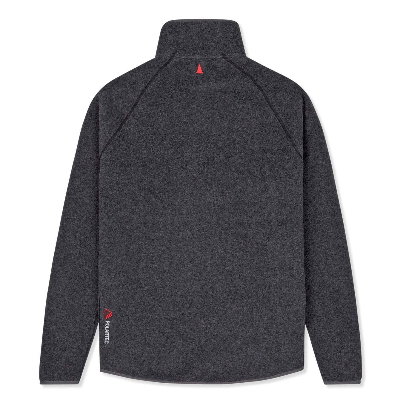 Musto Mens Essential Polartec Warm Fleece Coat Jacket Charcoal Two hand pockets
