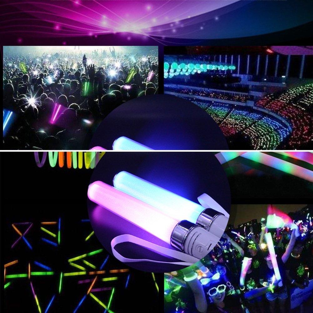 Gladle 15 lampe clignotante LED /à changement multicolore Glow Stick Flashlight Effect Sticks Hors batterie