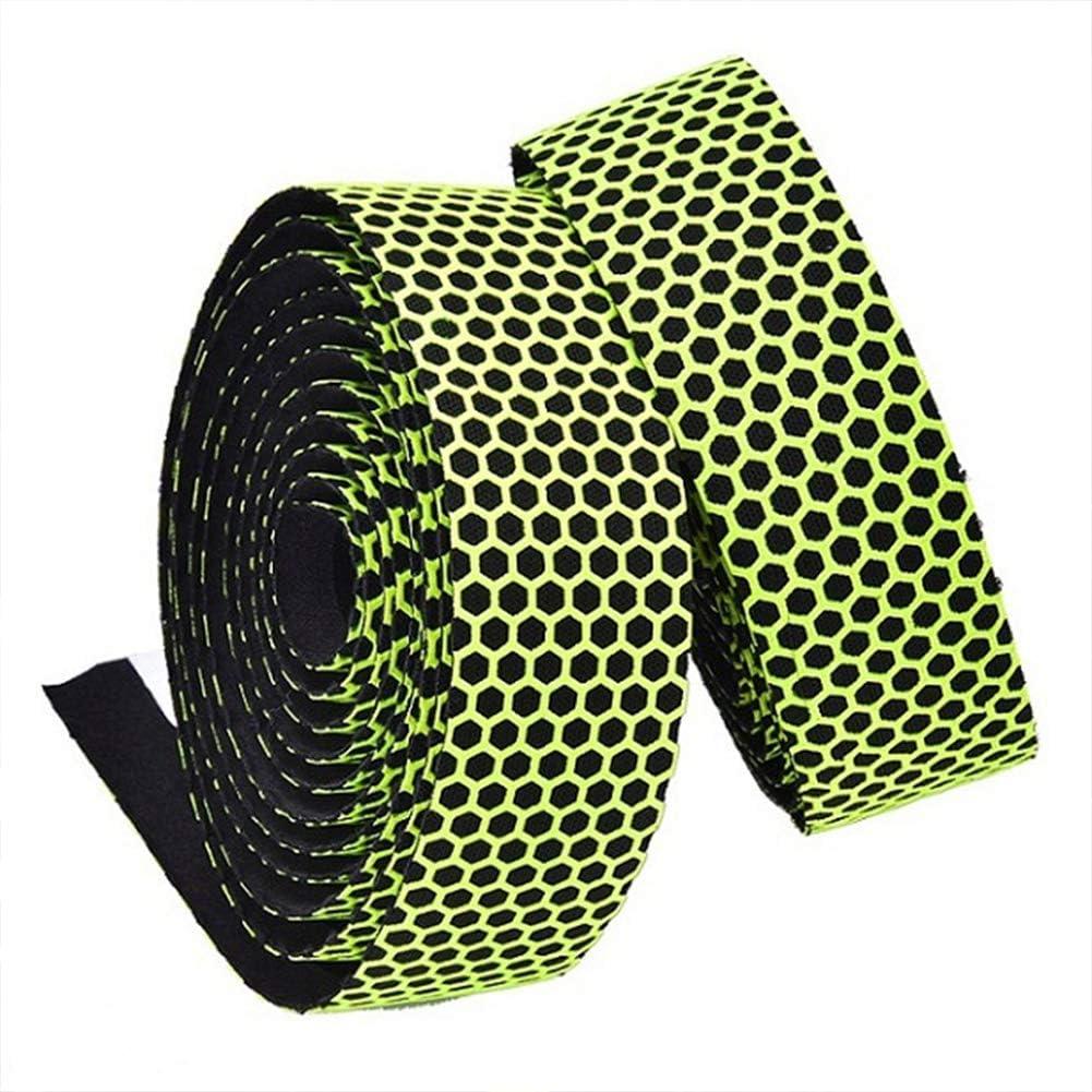 with Bar Plugs Superior Breathable Hexagon Non-Slip Silicone Bar Tape Adhesive Back for Dorp Bars 2pcs per Set BNVB Bike Handlebar Tape