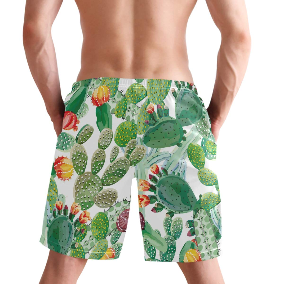 Mens Swimming Board Shorts Trunks Floral Quick Dry Pool Beach Holiday Swim Mesh