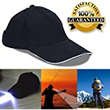 5 LED Baseball Cap With Light Hat For Fishing and Hunting - Best Hands Free Solution - Camping - Hiking - Walking - Jogging - Plumbing - Auto Mechanics - High Beam Lights,Hands-Free Flashlight