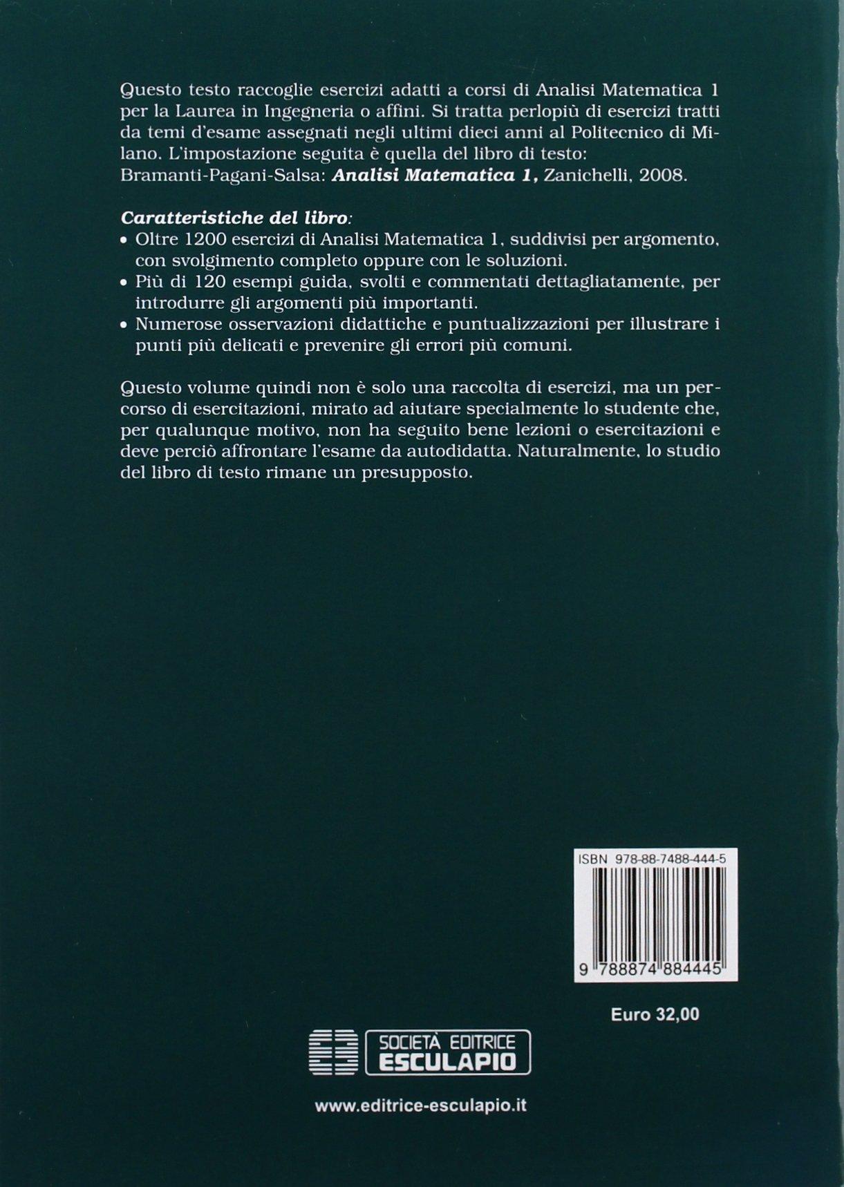 ESERCITAZIONI DI ANALISI MATEMATICA 1 BRAMANTI PDF