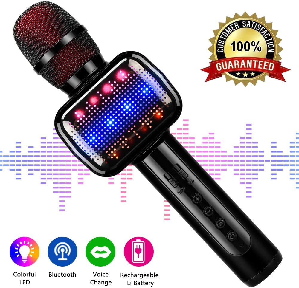 Wireless Kids Microphones with Bluetooth Speaker