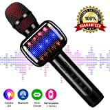 Karaoke Microphone,Kids Microphone Bluetooth Wireless Portable Speaker Handheld Music Sing Mic for Home Party Birthday Gifts and Kids Girls Boys Toys Age 5 6 7 8 9