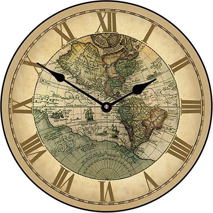 1596 World Map Wall Clock, 10