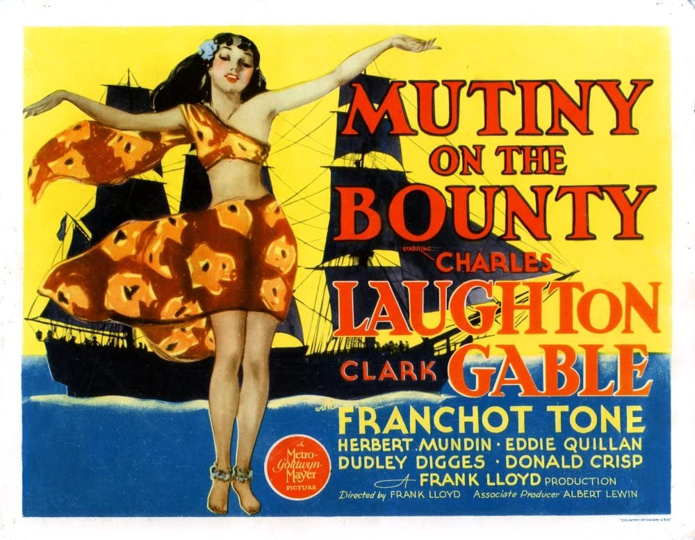 Mutiny on the Bounty Laughton Repro Film POSTER