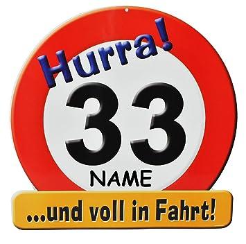 Xxl Glückwunsch Schild 33 Geburtstag Hurra 33 Und