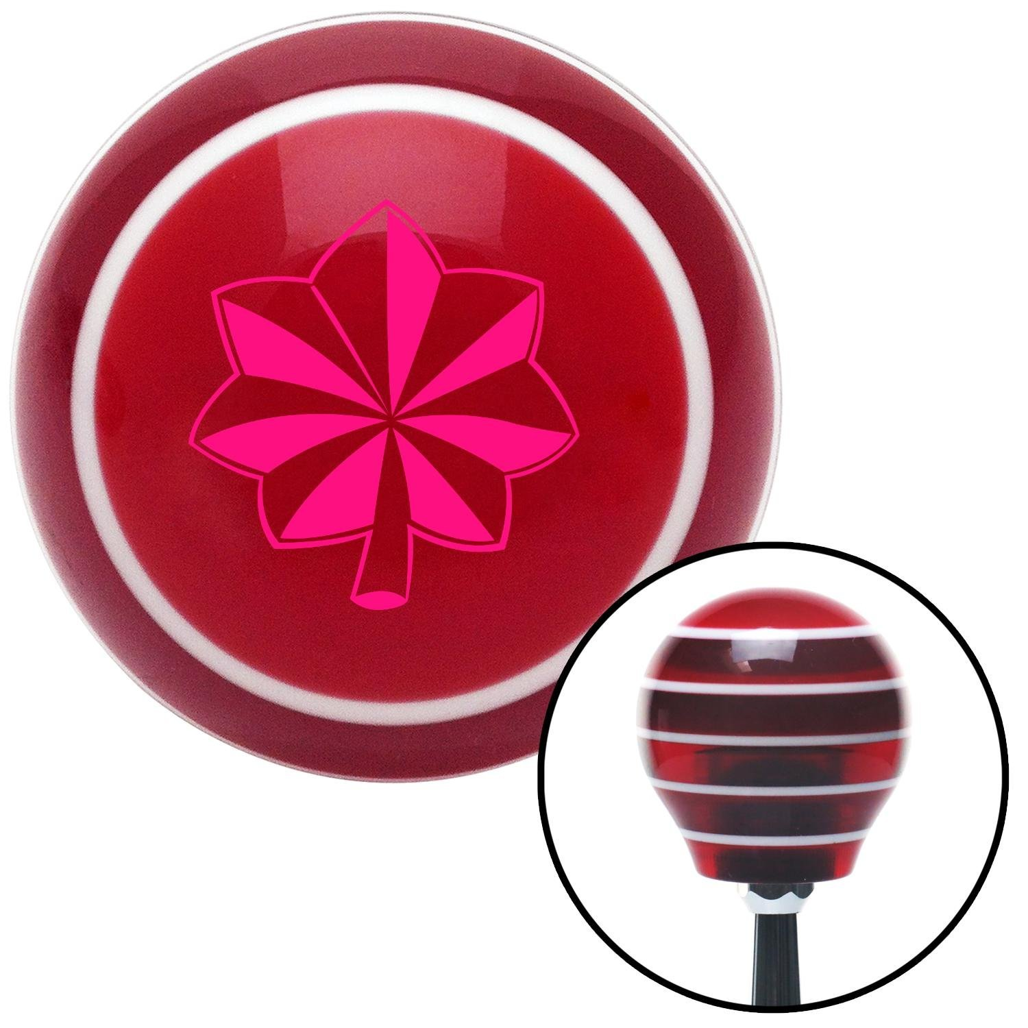 Pink Commander American Shifter 115493 Red Stripe Shift Knob with M16 x 1.5 Insert