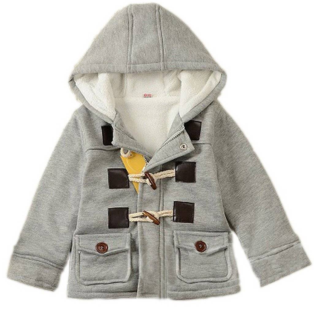 GETUBACK Baby Boy's Hooded Fleece Coat Winter Outwear 3T Grey by GETUBACK