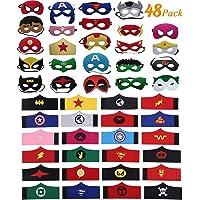 DREAMWIN 48 Piezas Máscaras de Superhéroe, Pulseras