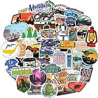 Waterproof Vinyl Stickers Pack for Water Bottle Bike Laptop (100Pcs Camping Adventure Style)