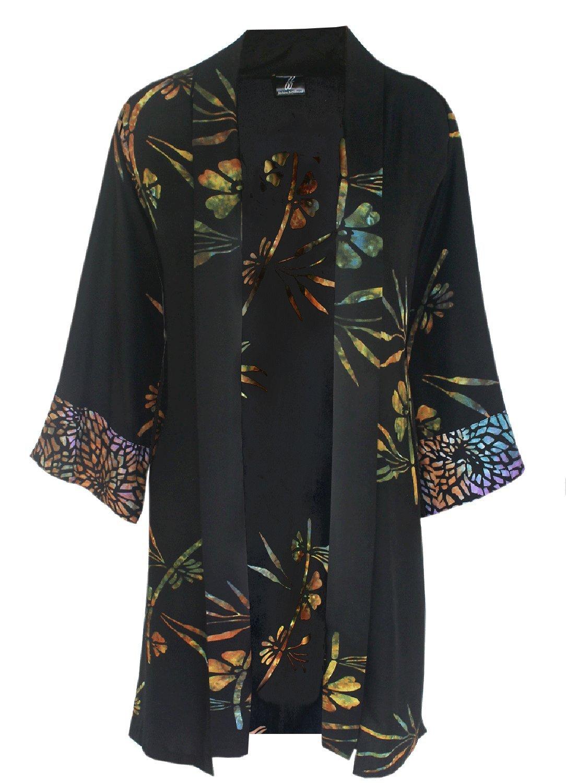 Art Wear Kimono Cardigan, 38'' Long Dressy Jacket, 1-2x Womens Plus Size Clothes