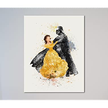 Star Wars Darth Vader and Belle Beauty and the Beast 11  x 14  Print