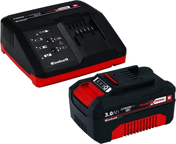 Einhell Power X-Change - Kit cargador con batería (18 V, 3.0 Ah ...