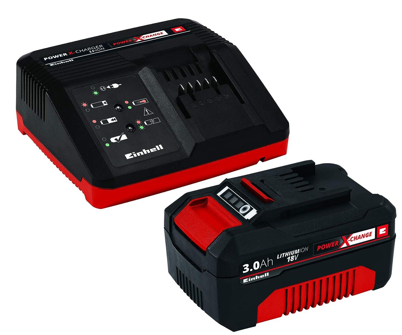 Einhell starter kit batteria e caricabatterie power change ioni
