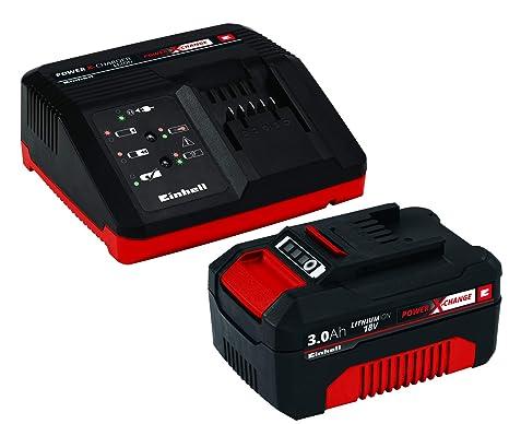 Einhell Power X-Change - Kit cargador con batería (18 V, 3.0 Ah, tiempo de carga de 60 minutos)