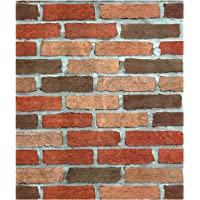 Dwind D9326 Brick Peel and Stick Wallpaper Self Adhesive Removable Contact Paper For Furniture Kitchen Countertop Table Door DIY Chalkboard 17.7inch X 118inch