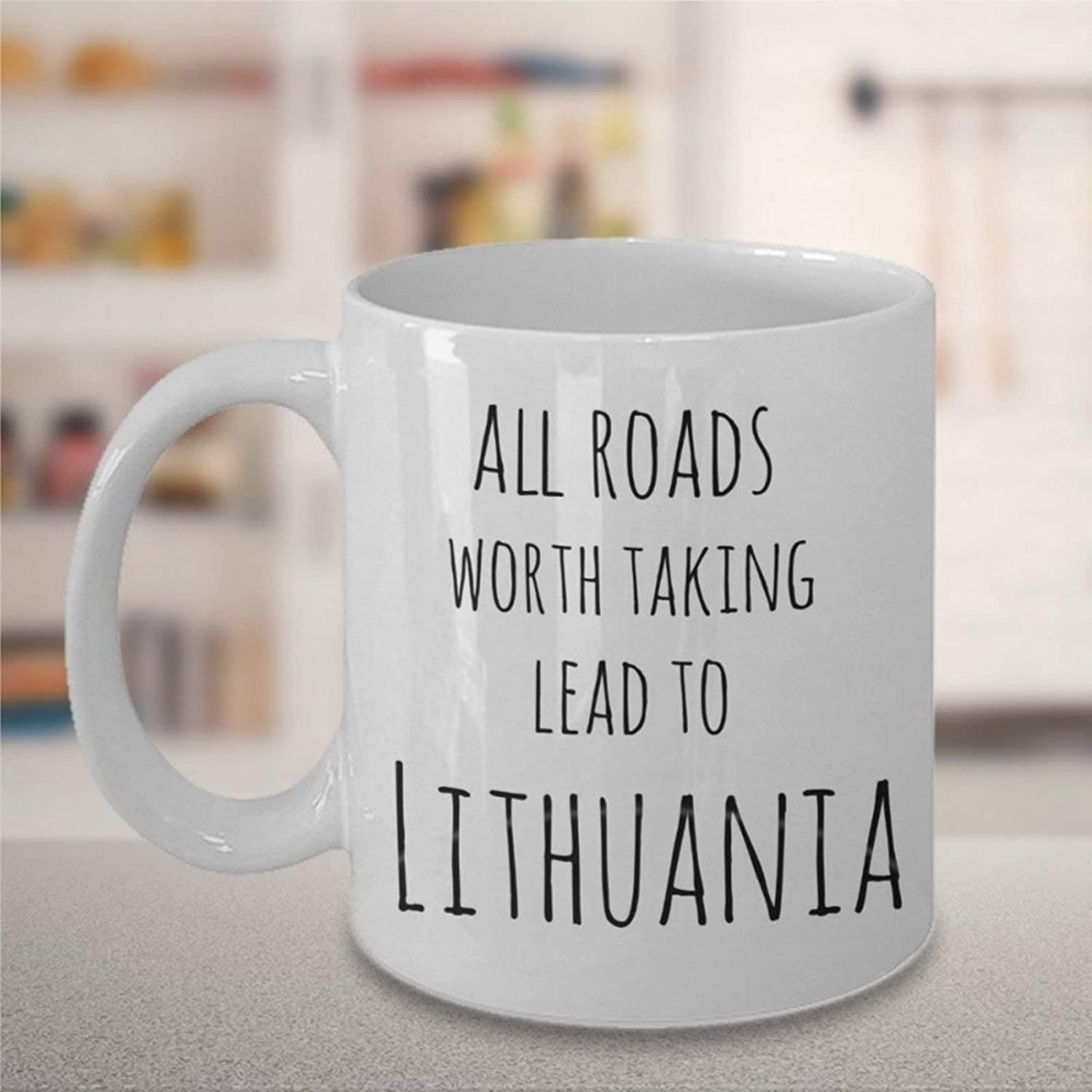 Lithuanian Coffee Mug,Ceramic Mug Cup for Office and Home,Tea Milk,Birthday For Her or Him,11oz