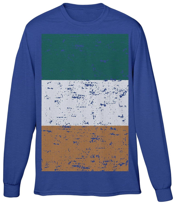 Blittzen Mens Long Sleeve T-shirt Ireland Flag - Distressed