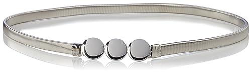 PIECES Pcnellie Metalic Waist Belt, Cinturón para Mujer