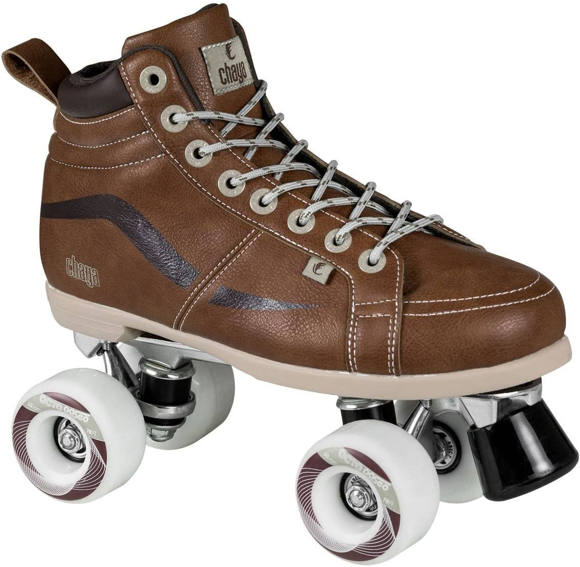 Chaya New Vintage Brown Neat Quad Roller Skates – Vegan