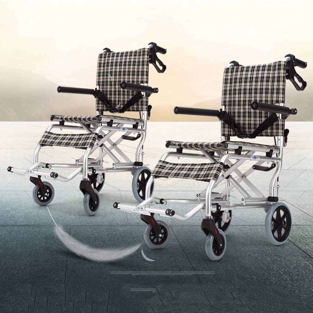Sillas de ruedas Silla de Viaje Scooter Anciano discapacitado Plegable Rueda para niños Silla de Viaje cojinete Peso 100 kg Mejor Regalo: Amazon.es: Hogar