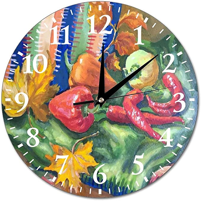 Pepper Wall Decorations - VinMea Wall Clock Hot Pepper Hanging Clock
