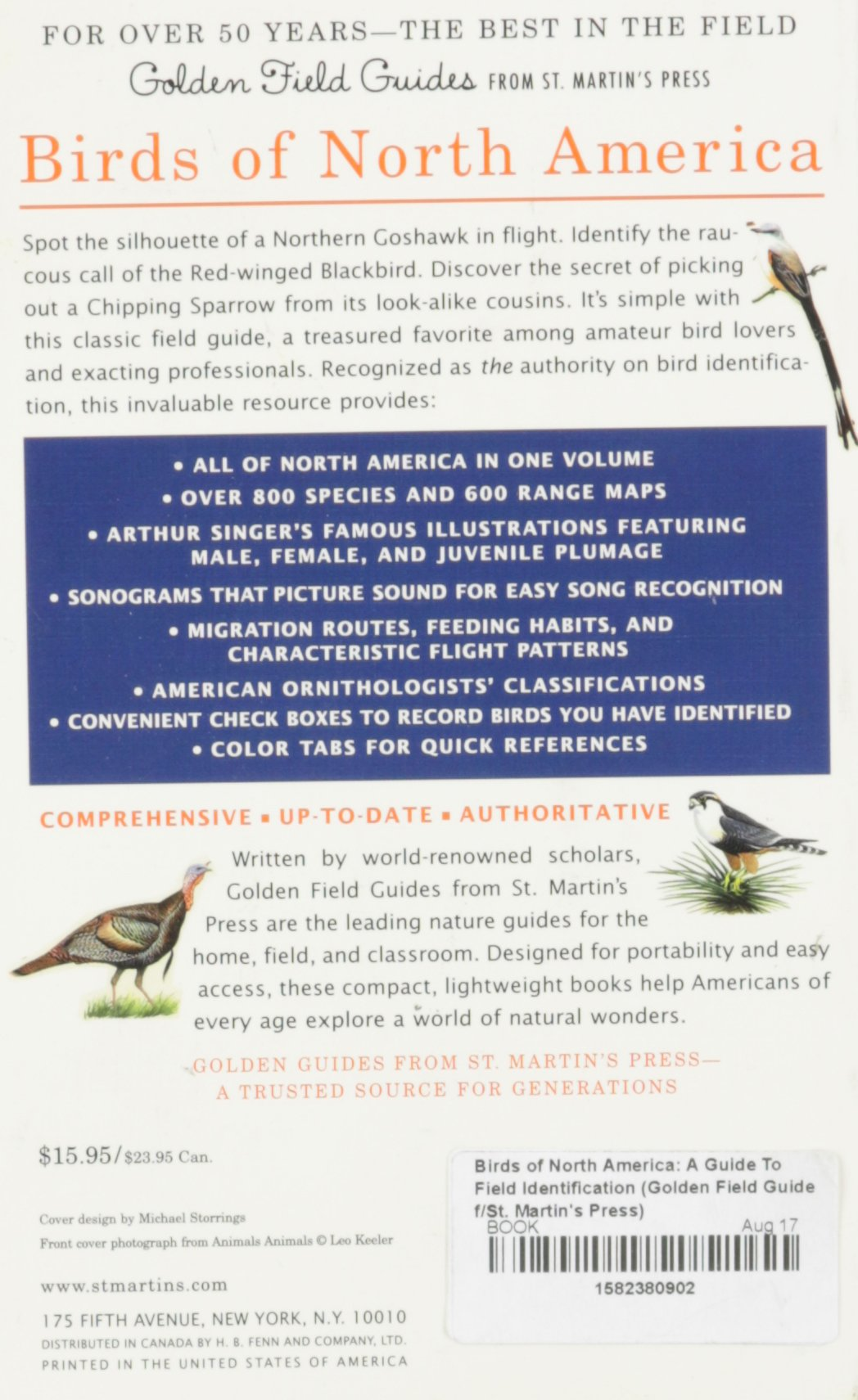 birds of north america a guide to field identification golden