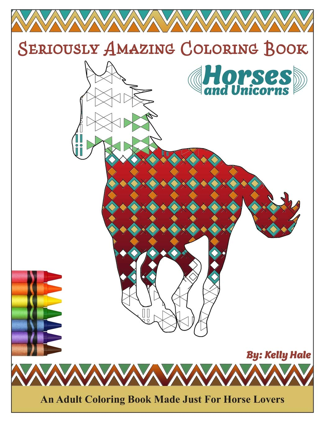 Amazon.com Horses & Unicorns   An Adult Coloring Book Seriously ...