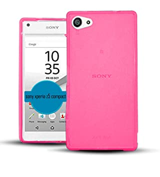 buy popular 3e297 645af TBOC Pink Ultra Thin TPU Silicone Gel Case Cover for Sony Xperia Z5 Compact  (Mini) E5803 E5823 - Soft Jelly Rubber Skin