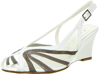 Vista Damen Slingpumps weiß, Größe:39;Farbe:Weiß