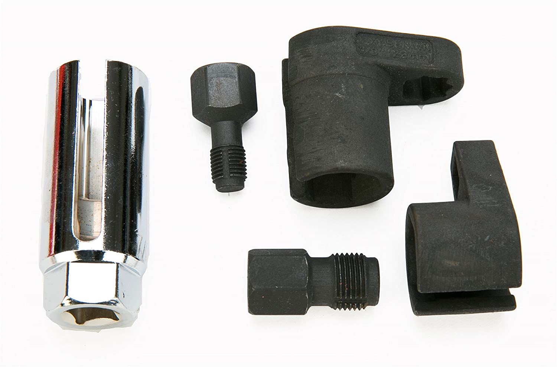 8MILELAKE 5pcs Oxygen Sensor Socket// 5pc Thread Chaser Install Offset O2 Wrench Set