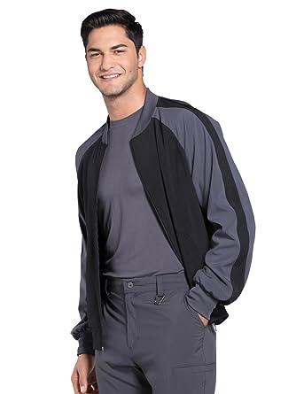 f2baec4d36f Cherokee Infinity CK330A Men's Colorblock Zip Up Warm-Up Jacket Black XS