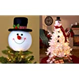 Amazon Price History for:Frosty Snowman Top Hat Christmas Tree Topper Decor Holiday Winter Wonderland Decoration by KNL Store