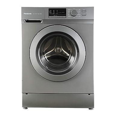 Panasonic 7 kg Fully Automatic Front Loading Washing Machine  NA 127XB1L01, Silver and Dark Grey, Inbuilt Heater  Washing Machines   Dryers
