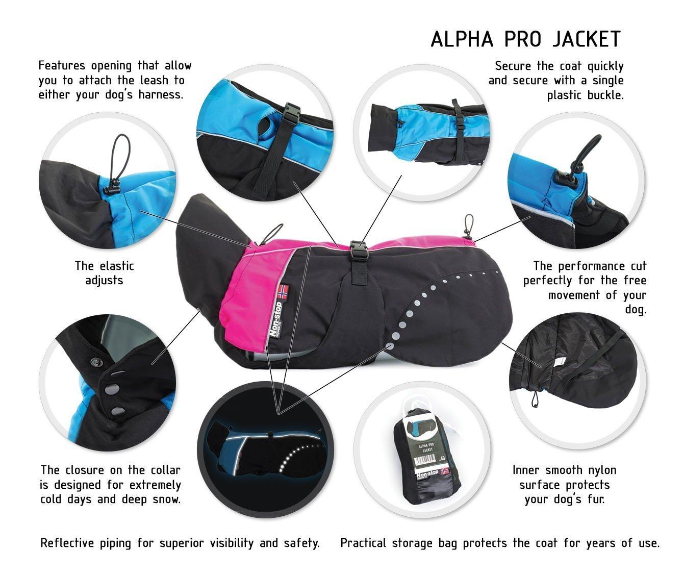 3e6a02c70 Non-stop dog wear, non-stop alpha pro jacket, blue, blue, 60 (EU ...
